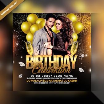 Panfleto de festa de aniversário