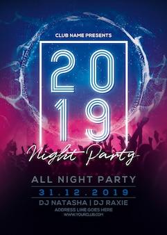 Panfleto de festa de ano novo 2019