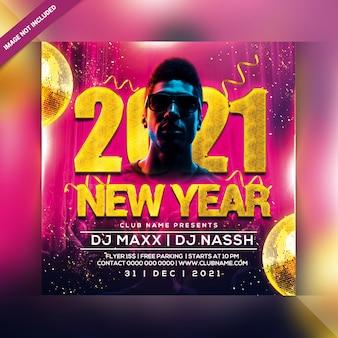 Panfleto de festa de ano novo 2021