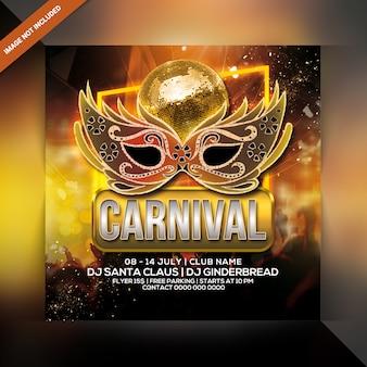 Panfleto de festa de carnaval