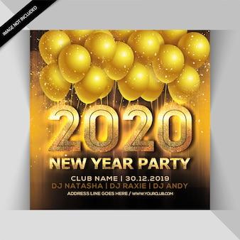 Panfleto de festa de comemoração de ano novo