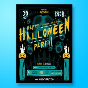 Panfleto de festa de halloween ou cartaz