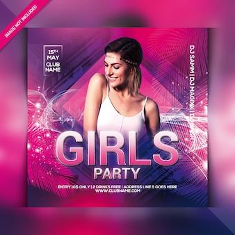 Panfleto de festa de menina