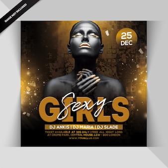 Panfleto de festa de meninas sexy
