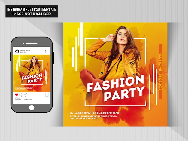 Panfleto de festa de moda