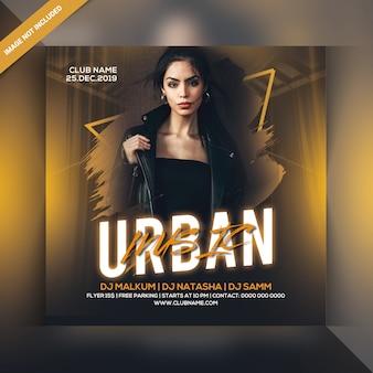 Panfleto de festa de música urbana