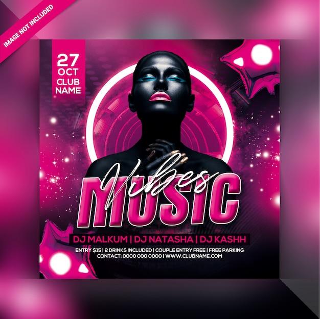 Panfleto de festa de música