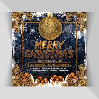 Panfleto de festa de natal feliz