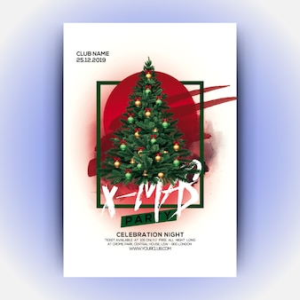 Panfleto de festa de natal