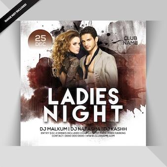 Panfleto de festa de noite de senhoras