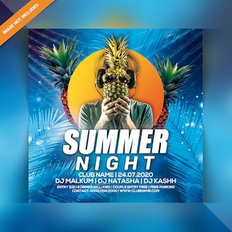 Panfleto de festa de noite de verão