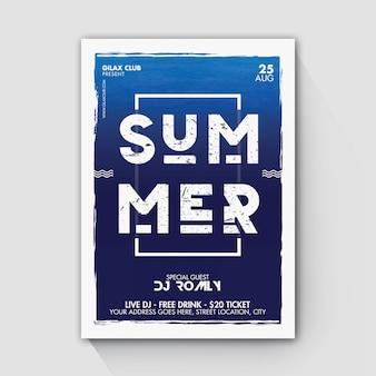 Panfleto de festa de praia de verão