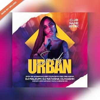 Panfleto de festa de som urbano