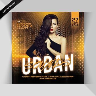 Panfleto de festa de sons urbanos