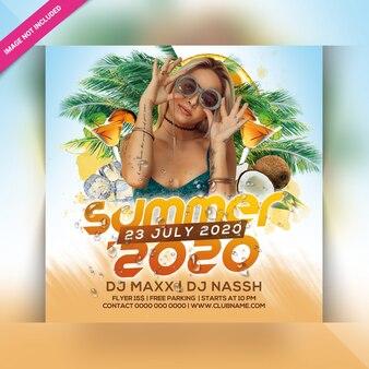 Panfleto de festa de verão 2020