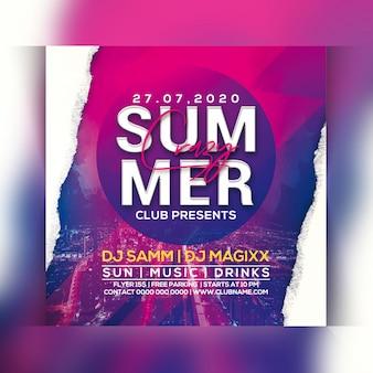 Panfleto de festa de verão louco