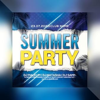 Panfleto de festa de verão
