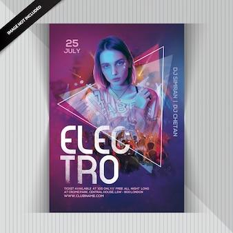 Panfleto de festa dj electro