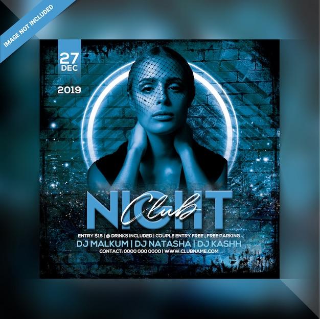 Panfleto de festa do clube noturno