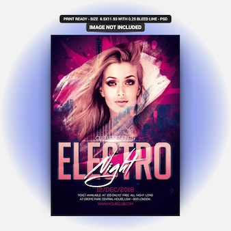 Panfleto de festa electro night