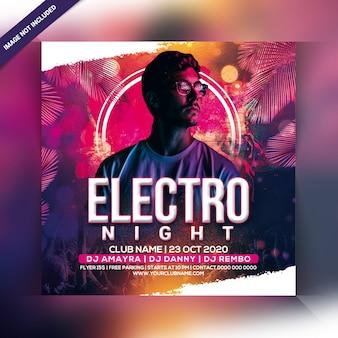 Panfleto de festa electro noite
