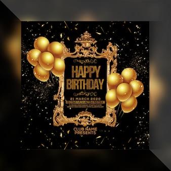 Panfleto de festa feliz aniversário