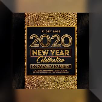 Panfleto de festa feliz ano novo