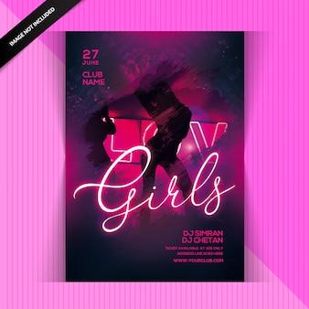 Panfleto de festa garota sexy