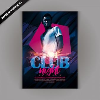 Panfleto de festa nocturna do clube