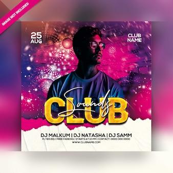 Panfleto de festa sensual clube