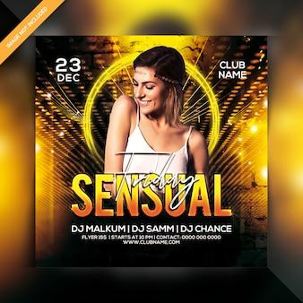Panfleto de festa sexta-feira sensual