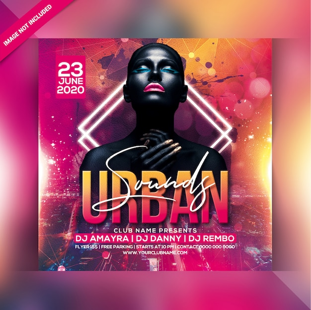 Panfleto de festa urbana sensual