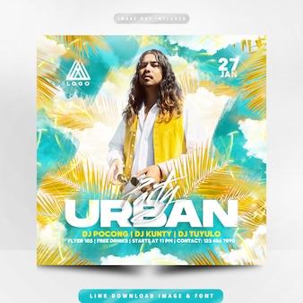 Panfleto de festa urbana