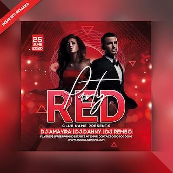 Panfleto de festa vermelho