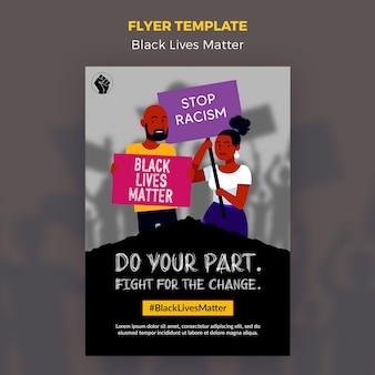 Panfleto de matéria de vidas negras