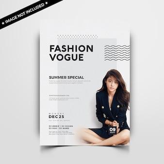 Panfleto de moda