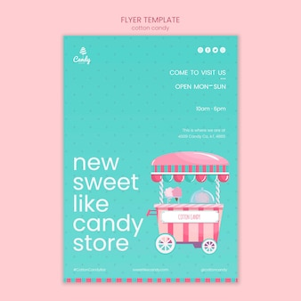 Panfleto de modelo de loja de doces