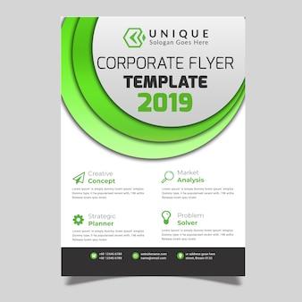Panfleto de negócios verde