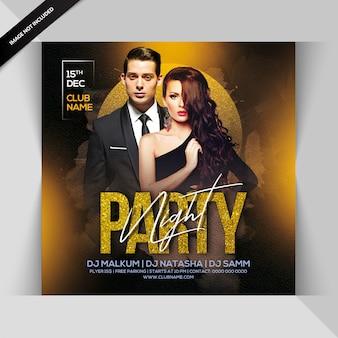 Panfleto de noite de festa