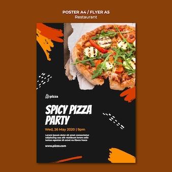 Panfleto de restaurante de comida italiana