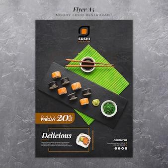 Panfleto de restaurante de comida temperamental