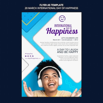 Panfleto do dia internacional da felicidade