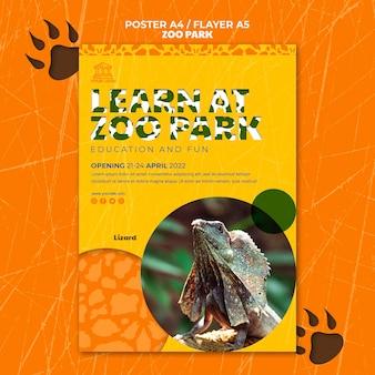 Panfleto do parque zoológico com foto