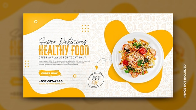 Panfleto promocional do cardápio de comida