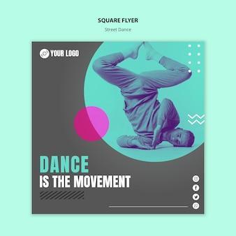 Panfleto quadrado de dança de rua