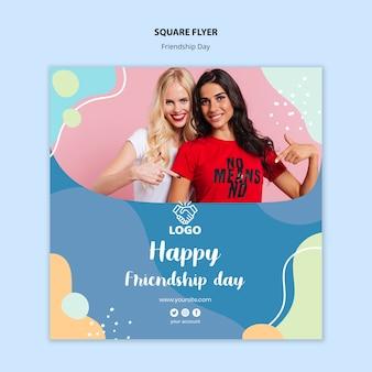 Panfleto quadrado dia da amizade