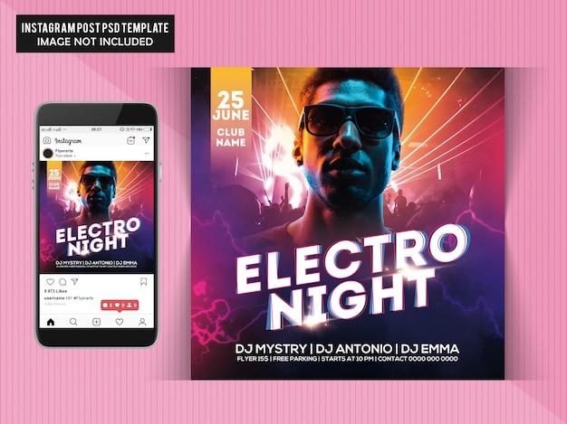 Panfletos electro night party