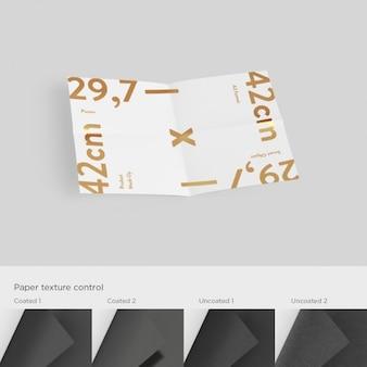 Panfletos página do modelo