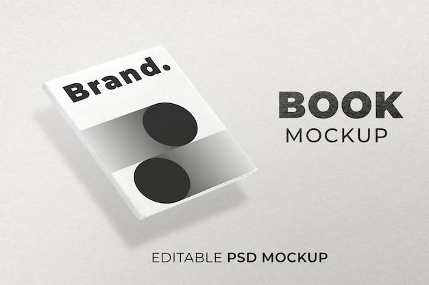 Papel de carta psd de maquete de capa de livro mínima