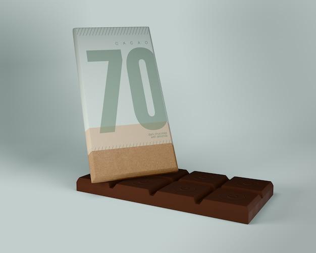 Papel de embrulho para o chocolate mock-up